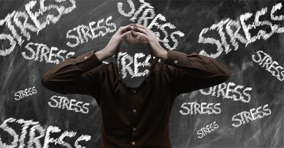 Stress person