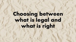 Law or Ethics