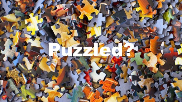 Illustrate the word puzzled